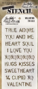 THS033 Stampers Anonymous Tim Holtz Layering Stencil - Valentine